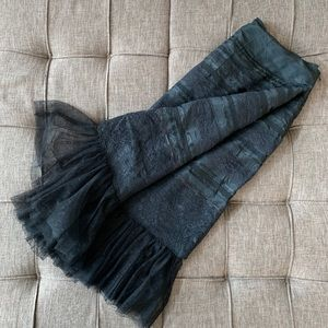 ((Express)) Black Lace Below-the-knee Skirt